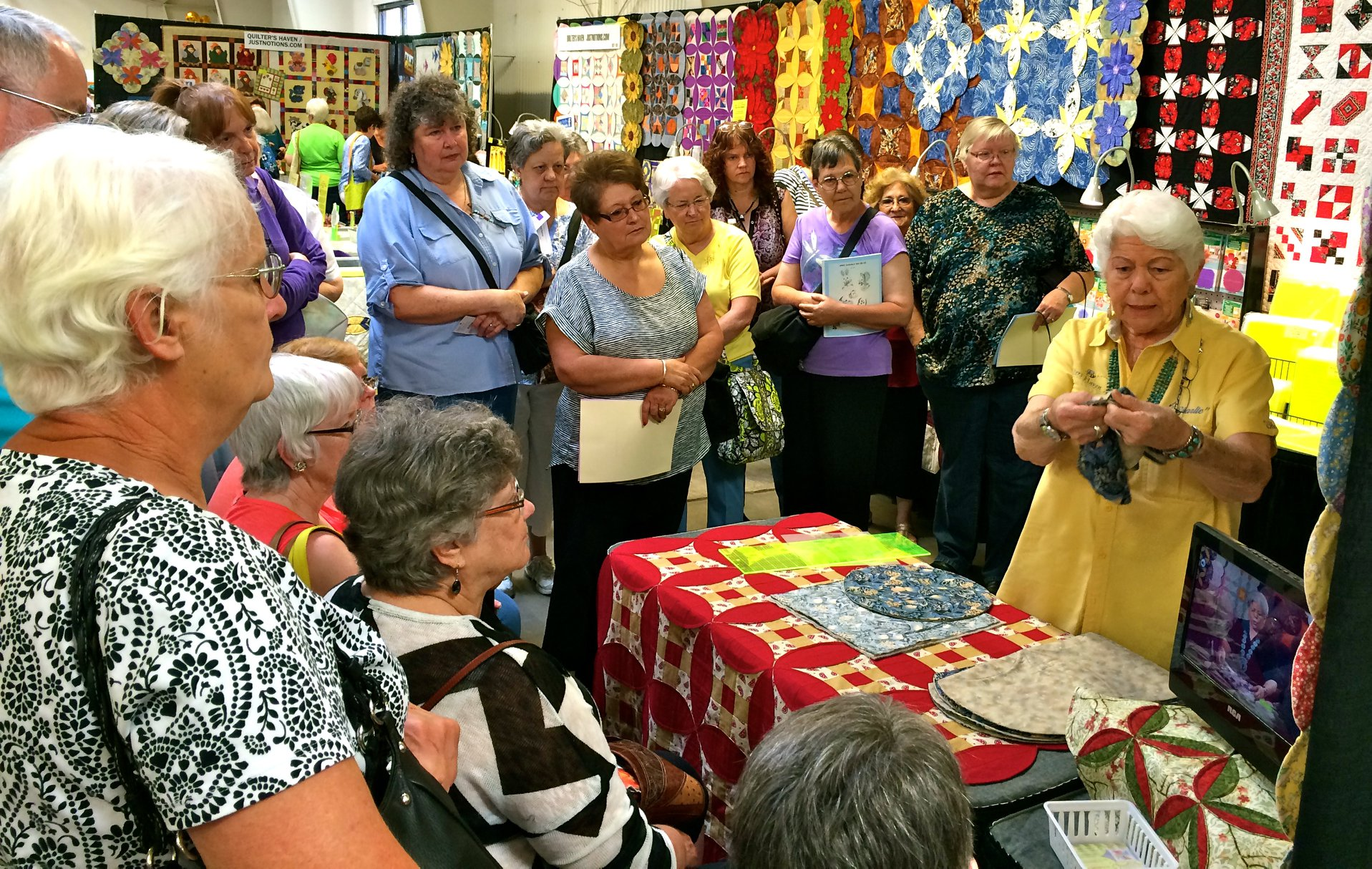 Quilt, Craft & Sewing Material on Display