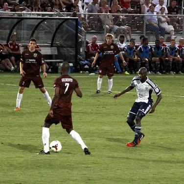 Sac Republic FC playing a soccer match