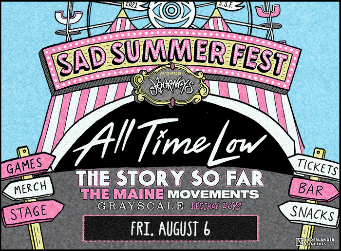Sad Summer Festival with All Time Low on August 6