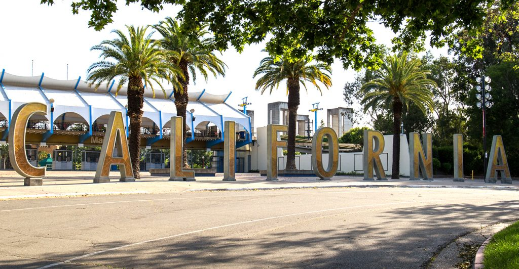 California letters at cal expo's main gate