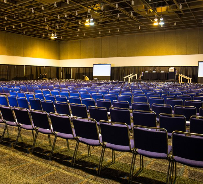 Expo Center Chairs Set Up