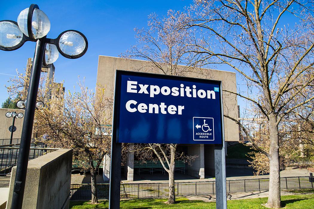 Expo Center Exterior Sign