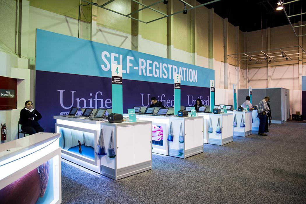 Expo Center Registration Set Up