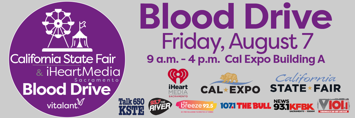 Cal Expo Blood Drive Flyer