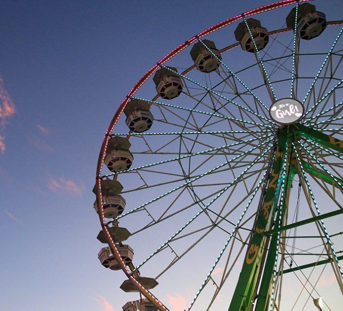 Ferris wheel revealing the gender of someone's baby