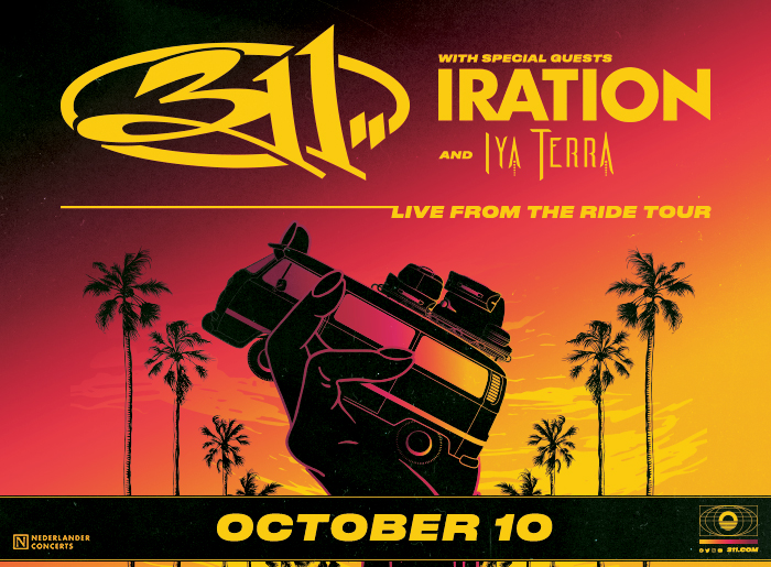 311 with special guests Iration and Iya Terra. Live From The Ride Tour. October 10