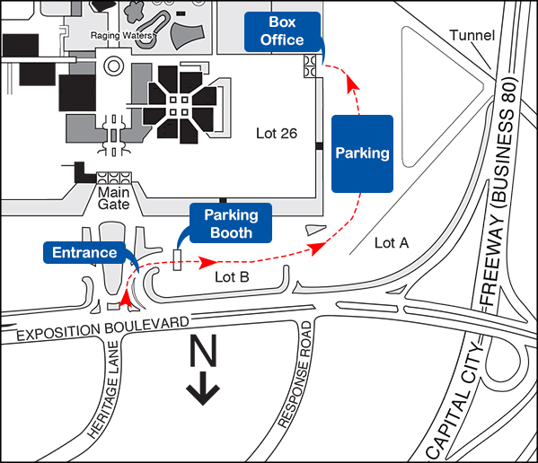 Map from Main Gate to Health Heart Park