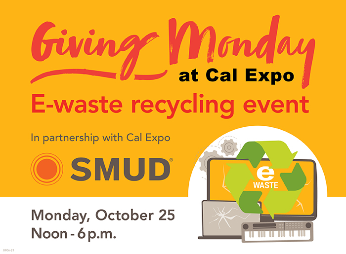 SMUD Giving Monday at Cal Expo E-Waste Recycling Event