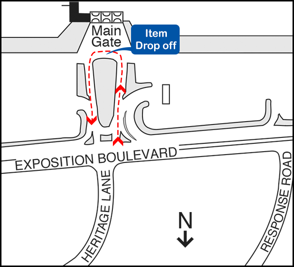 Main Gate Loop Map for SMUD drop off