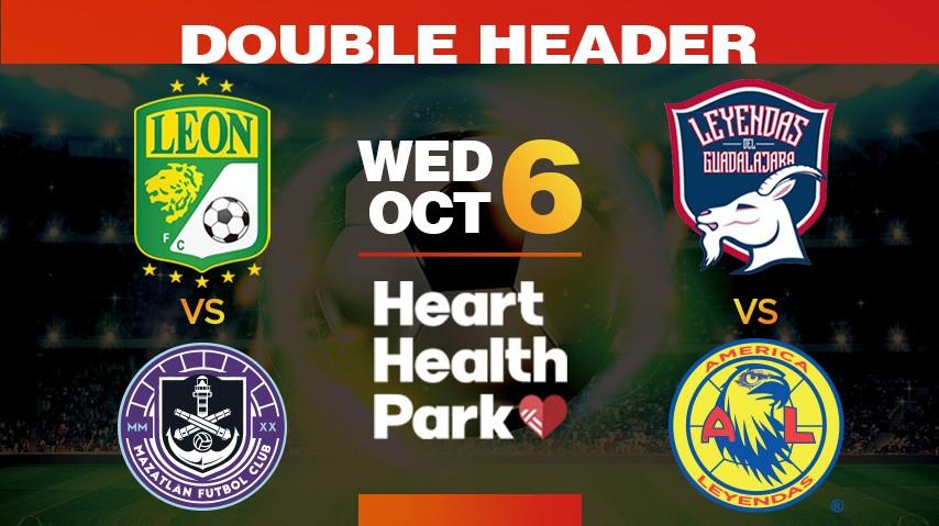 Double header, Wed Oct 6. Heart Health Park